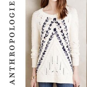 ANTHROPOLOGIE 'Knitted & Knotted' Ribbon Sweater